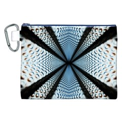6th Dimension Metal Abstract Obtained Through Mirroring Canvas Cosmetic Bag (xxl)