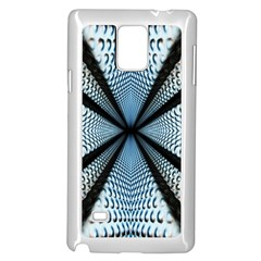 6th Dimension Metal Abstract Obtained Through Mirroring Samsung Galaxy Note 4 Case (white)