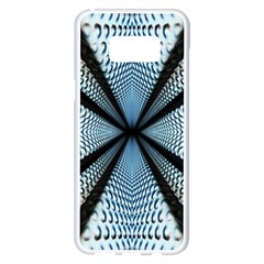 6th Dimension Metal Abstract Obtained Through Mirroring Samsung Galaxy S8 Plus White Seamless Case