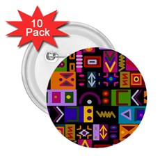 Abstract A Colorful Modern Illustration 2 25  Buttons (10 Pack)