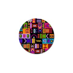 Abstract A Colorful Modern Illustration Golf Ball Marker