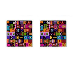 Abstract A Colorful Modern Illustration Cufflinks (square)