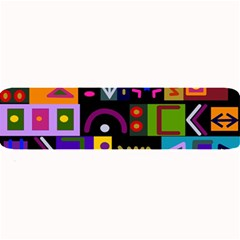 Abstract A Colorful Modern Illustration Large Bar Mats