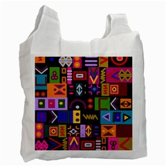Abstract A Colorful Modern Illustration Recycle Bag (two Side)