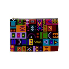 Abstract A Colorful Modern Illustration Cosmetic Bag (medium)