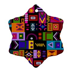 Abstract A Colorful Modern Illustration Snowflake Ornament (two Sides)