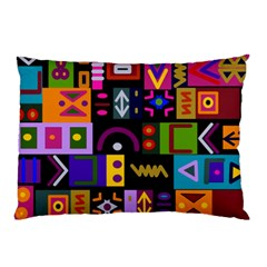 Abstract A Colorful Modern Illustration Pillow Case (two Sides)