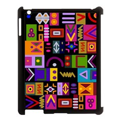 Abstract A Colorful Modern Illustration Apple Ipad 3/4 Case (black)