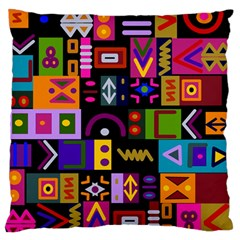 Abstract A Colorful Modern Illustration Standard Flano Cushion Case (two Sides)