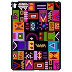 Abstract A Colorful Modern Illustration Apple Ipad Pro 9 7   Black Seamless Case