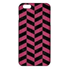 Chevron1 Black Marble & Pink Denim Iphone 6 Plus/6s Plus Tpu Case