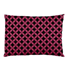 Circles3 Black Marble & Pink Denim (r) Pillow Case (two Sides)