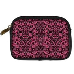 Damask2 Black Marble & Pink Denim Digital Camera Cases