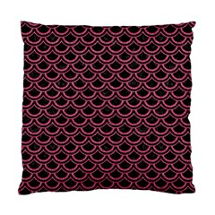 Scales2 Black Marble & Pink Denim (r) Standard Cushion Case (two Sides)