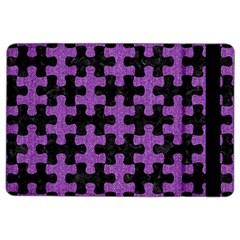 Puzzle1 Black Marble & Purple Denim Ipad Air 2 Flip