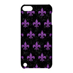 Royal1 Black Marble & Purple Denim Apple Ipod Touch 5 Hardshell Case With Stand