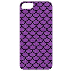 Scales1 Black Marble & Purple Denim Apple Iphone 5 Classic Hardshell Case