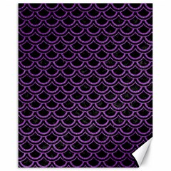 Scales2 Black Marble & Purple Denim (r) Canvas 16  X 20