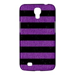 Stripes2 Black Marble & Purple Denim Samsung Galaxy Mega 6 3  I9200 Hardshell Case