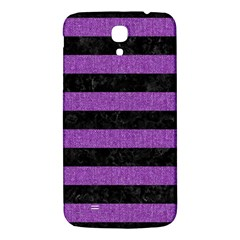 Stripes2 Black Marble & Purple Denim Samsung Galaxy Mega I9200 Hardshell Back Case