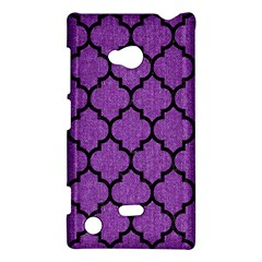 Tile1 Black Marble & Purple Denim Nokia Lumia 720
