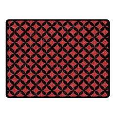Circles3 Black Marble & Red Denim Double Sided Fleece Blanket (small)