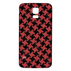 Houndstooth2 Black Marble & Red Denim Samsung Galaxy S5 Back Case (white)