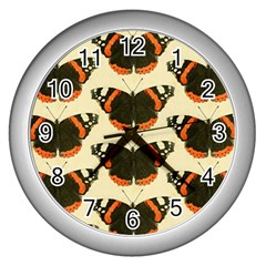 Butterfly Butterflies Insects Wall Clocks (silver)