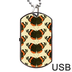 Butterfly Butterflies Insects Dog Tag Usb Flash (one Side)