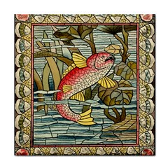 Fish Underwater Cubism Mosaic Tile Coasters