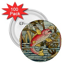 Fish Underwater Cubism Mosaic 2 25  Buttons (100 Pack)
