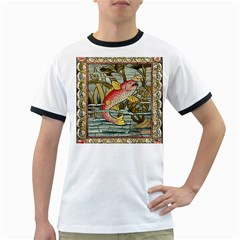 Fish Underwater Cubism Mosaic Ringer T Shirts