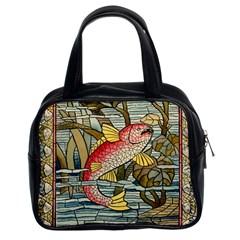 Fish Underwater Cubism Mosaic Classic Handbags (2 Sides)