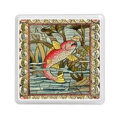 Fish Underwater Cubism Mosaic Memory Card Reader (square)