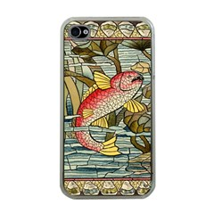 Fish Underwater Cubism Mosaic Apple Iphone 4 Case (clear)