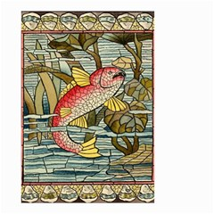 Fish Underwater Cubism Mosaic Small Garden Flag (two Sides)