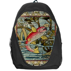 Fish Underwater Cubism Mosaic Backpack Bag