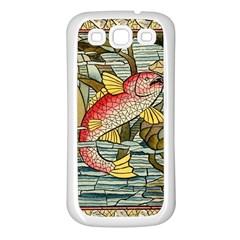 Fish Underwater Cubism Mosaic Samsung Galaxy S3 Back Case (white)
