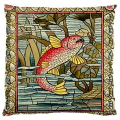 Fish Underwater Cubism Mosaic Standard Flano Cushion Case (two Sides)
