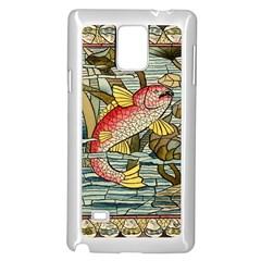 Fish Underwater Cubism Mosaic Samsung Galaxy Note 4 Case (white)