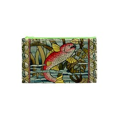 Fish Underwater Cubism Mosaic Cosmetic Bag (xs)