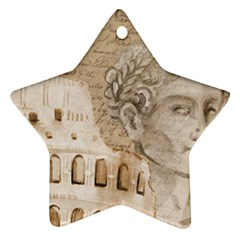 Colosseum Rome Caesar Background Ornament (star)