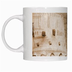 Colosseum Rome Caesar Background White Mugs