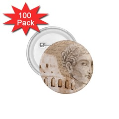Colosseum Rome Caesar Background 1 75  Buttons (100 Pack)
