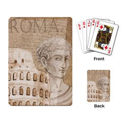 Colosseum Rome Caesar Background Playing Card