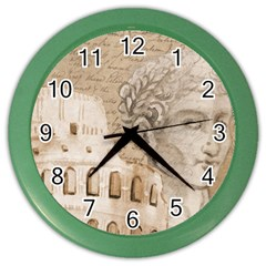 Colosseum Rome Caesar Background Color Wall Clocks