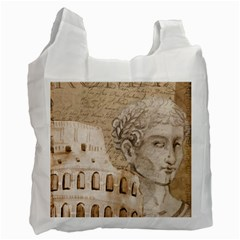 Colosseum Rome Caesar Background Recycle Bag (one Side)