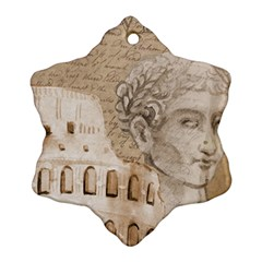 Colosseum Rome Caesar Background Snowflake Ornament (two Sides)