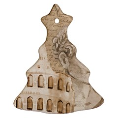 Colosseum Rome Caesar Background Christmas Tree Ornament (two Sides)