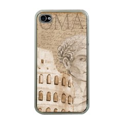 Colosseum Rome Caesar Background Apple Iphone 4 Case (clear)